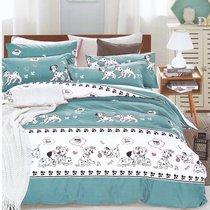 Постельное белье Karna Delux Dalmatian, подростковое, цвет голубой, 1.5-спальный - Bilge Tekstil