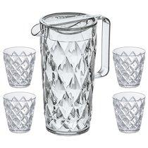 Набор из кувшина и 4 стаканов CRYSTAL - Koziol