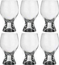 Набор бокалов для вина из 6 шт. ДЖИНА 340 МЛ ВЫСОТА=14 СМ (КОР=8Набор.) - Crystalex