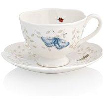 """Чашка чайная с блюдцем Lenox """"Бабочки на лугу"""" 240мл - Lenox"""