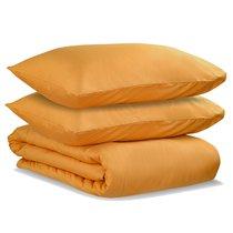 Комплект постельного белья полутораспальный из сатина цвета шафрана из коллекции Wild - Tkano