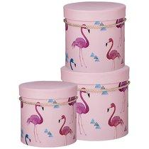 Набор Подарочных Коробок Flamingo Из 3-Х шт. Диаметр 18/15, 5/12 см - Huajing Plastic Flower Factory