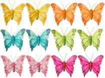 Комплект Из 12-Ти Декоративных Изделий На Клипсе Бабочки 8 см - Huajing Plastic Flower Factory