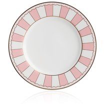"""Набор из 2 десертных тарелок 21см """"Карнавал"""" (розовая полоска) п/к, цвет розовый - Noritake"""