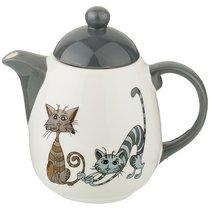 Заварочный Чайник Коллекция Озорные Коты 1000 мл 19x12x18 см - Hongda Ceramics
