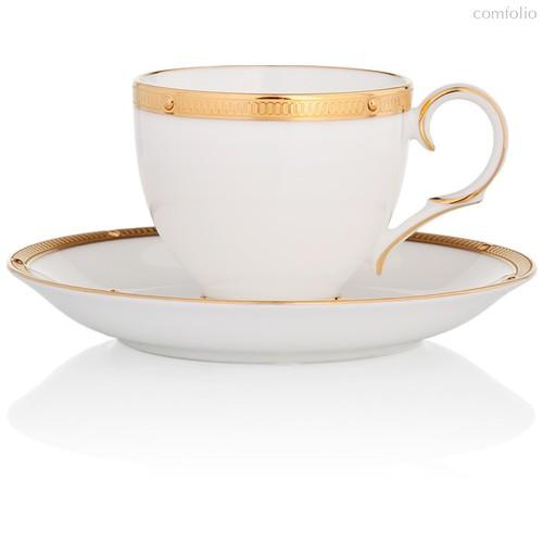 """Чашка чайная с блюдцем 200мл """"Рочель, золотой кант"""" - Noritake"""
