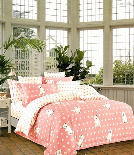 Постельное белье Karna Delux Corin, подростковое, цвет розовый, 1.5-спальный - Karna (Bilge Tekstil)