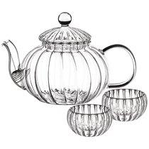 Набор Чайный На 2 Персоны: Заварочный Чайник 800 мл С Фильтром + 2 Чашки 50 мл - Dalian