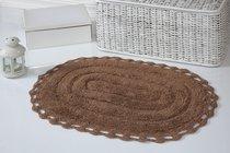 """Коврик для ванной """"MODALIN"""" кружевной YANA 50x70 см 1/1, цвет горчичный, 50x70 - Bilge Tekstil"""