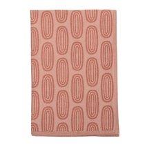 Полотенце кухонное с принтом Sketch бордового цвета из коллекции Wild, 45х70 см - Tkano