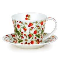 """Чашка чайная с блюдцем Dunoon 350мл """"Земляника. Айлей"""" - Dunoon"""