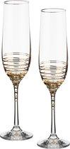 Набор бокалов для шампанского из 2 шт. SPIRAL 190 мл ВЫСОТА 23 см . - Crystalex
