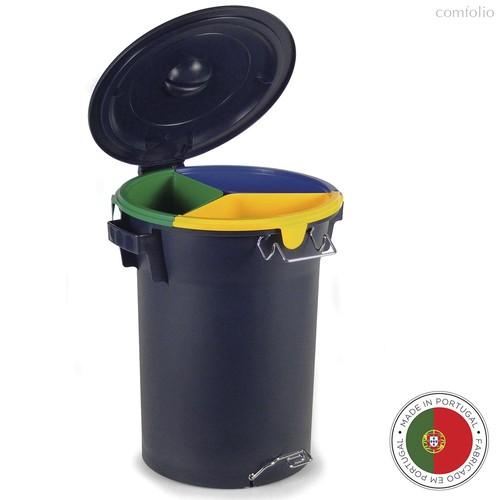Бак с педалью для раздельного сбора мусора ECO 52л, цвет темно-синий - Faplana