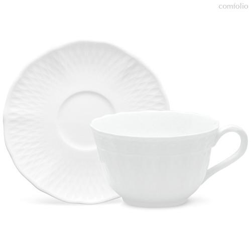 """Чашка чайная с блюдцем 215мл """"Шер Бланк"""" - Noritake"""