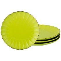 Набор Тарелок Из 4 Шт Диаметр 21 см, цвет лимонный, 21 см - Zeal Ceramics