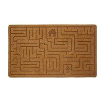 Коврик придверный Labyrinth коричневый, цвет коричневый - Balvi