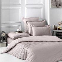 Постельное белье Karna Loft, однотонное, цвет капучино, размер 1.5-спальный - Karna (Bilge Tekstil)