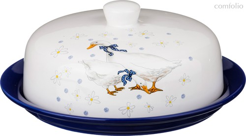 Блюдо Для Блинов Чешский Гусь Диаметр 23 см Высота 10 см - Zhenfeng Ceramics