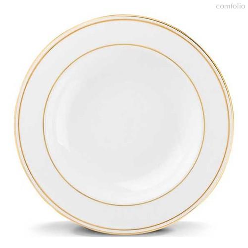 """Тарелка суповая Lenox """"Федеральный,золотой кант"""" 23см, цвет белый/золотой, 23 см - Lenox"""