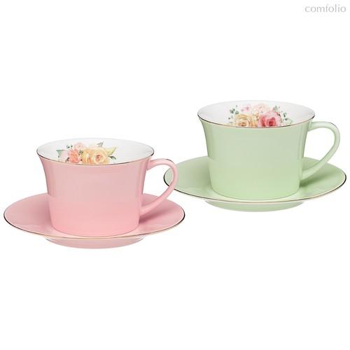 Чайный Набор Lefard Времена Года 260 мл 4 Пр. На 2 Пер. Розовый-Мятный - Kingensin Porcelain Industrial