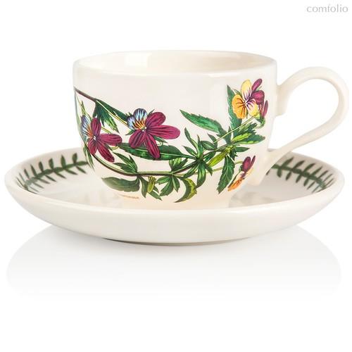 """Чашка чайная с блюдцем Portmeirion """"Ботанический сад. Фиалка трехцветная"""" 200мл - Portmeirion"""