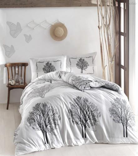 Постельное белье Ranforce Tree, цвет серый, размер Евро - Altinbasak Tekstil
