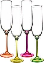 Набор бокалов для шампанского из 4 шт. NEON 190 мл ВЫСОТА=24 СМ. - Crystalex