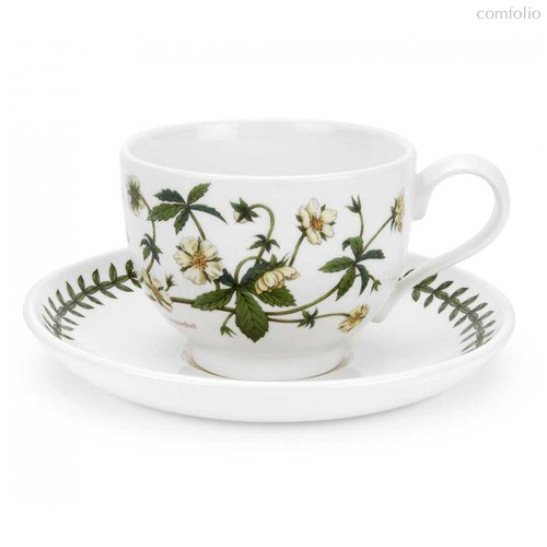 "Чашка чайная с блюдцем Portmeirion ""Ботанический сад. Лапчатка"" 200мл - Portmeirion"