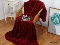 Плед Cleo ORRIZONTE 150/008-OT, цвет вишневый, 150 x 200 - Cleo