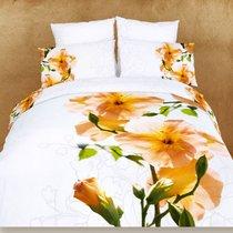 Абант - комплект постельного белья, цвет белый, размер Евро - Famille