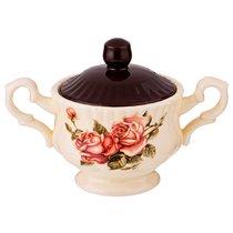 Сахарница Корейская Роза 19x11x13 см 400 мл - Huachen Ceramics
