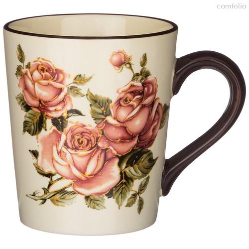 Кружка Корейская Роза 13x9,5 см. Высота 10,5 см. / 400 мл - Huachen Ceramics