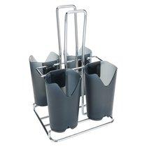 Подставка для столовых приборов Prodyne 4 отсека, пластик, металл - Prodyne