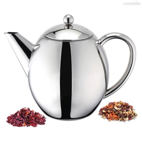 Чайник заварочный с двойными стенками Weis с фильтром 1,2л, 23х16х18см, полированная с - Weis