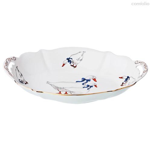 Блюдо Гуси 28x19x5,5 см - Kingensin Porcelain Industrial