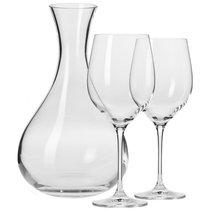 """Набор из декантера 1,6л и 2 бокалов для красного вина Krosno """"Гармония"""" 450мл,п/к - Krosno"""