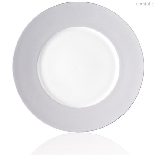 """Тарелка обеденная 28см """"Альта"""" (сиреневый борт) - Noritake"""