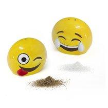 Солонка и перечница Emoji, цвет желтый - Balvi