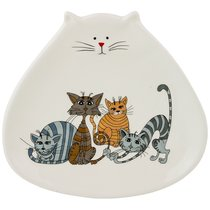 Тарелка Десертная Коллекция Озорные Коты 18,5x20x2,5 см - Hongda Ceramics
