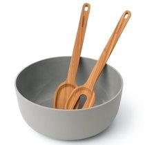 Миска для салата (24*10см) с сервировочними приборами (30*6см) Leo, цвет серый - BergHOFF