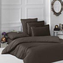 Постельное белье Karna Loft, однотонное, цвет шоколадный, 1.5-спальный - Bilge Tekstil
