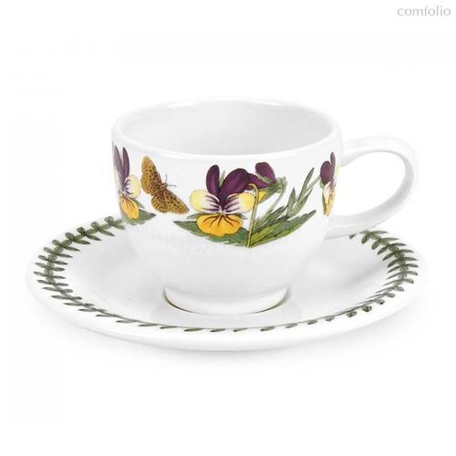 """Чашка для эспрессо с блюдцем Portmeirion """"Ботанический сад. Фиалка трехцветная"""" 100мл - Portmeirion"""