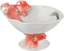 Конфетница Золотая Рыбка Высота 8 см - Jinding