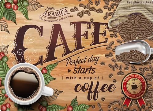 Подставки на пробке Ароматный кофе 40х29 см, 4 шт. - Top Art Studio