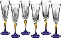 Набор Бокалов Для Шампанского Из 6 шт. Джипси 210 мл Высота 24 см - RCR