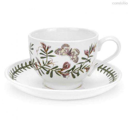 """Чашка чайная с блюдцем Portmeirion """"Ботанический сад. Горошек"""" 200мл - Portmeirion"""