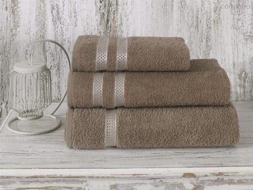 Полотенце махровое Karna Petek, цвет кофейный, 70x140 - Bilge Tekstil