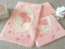 Коврик для ванной DO&CO (60Х100 см/50x60 см) DANTEL, цвет розовый - Meteor Textile