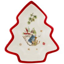 Салатник Зимняя Забава 30x26x6 см - Huachen Ceramics