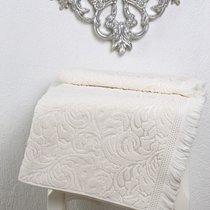 Полотенце махровое Karna Esra, цвет кремовый, 70x140 - Bilge Tekstil